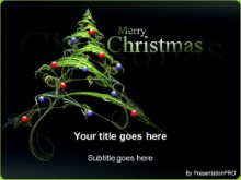 Download christmas tree decorated PowerPoint Template and other software plugins for Microsoft PowerPoint