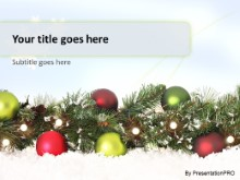 Holiday Garland PPT PowerPoint Template Background