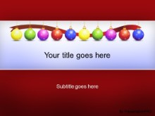 Download holiday ornaments red PowerPoint Template and other software plugins for Microsoft PowerPoint