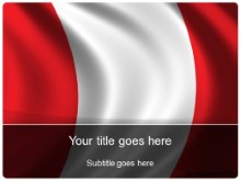 Download peru flag PowerPoint Template and other software plugins for Microsoft PowerPoint