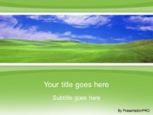 Download green field green PowerPoint Template and other software plugins for Microsoft PowerPoint