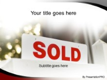 Download sold house PowerPoint Template and other software plugins for Microsoft PowerPoint