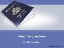 Download usa passport PowerPoint Template and other software plugins for Microsoft PowerPoint