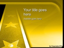 Download walk of fame gold PowerPoint Template and other software plugins for Microsoft PowerPoint