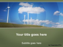 Download wind power PowerPoint Template and other software plugins for Microsoft PowerPoint