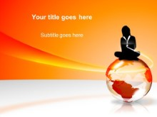 Download globe orange PowerPoint Template and other software plugins for Microsoft PowerPoint