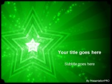 Download stars green PowerPoint Template and other software plugins for Microsoft PowerPoint