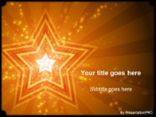 Download stars orange PowerPoint Template and other software plugins for Microsoft PowerPoint