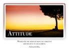 Attitude - Light PPT PowerPoint Motivational Quote Slide