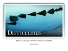 Difficulties - Light PPT PowerPoint Motivational Quote Slide