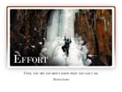 Effort - Light PPT PowerPoint Motivational Quote Slide