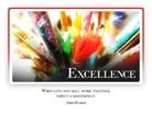 Excellence - Light PPT PowerPoint Motivational Quote Slide