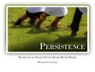 Persistence - Light PPT PowerPoint Motivational Quote Slide