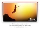 Risk - Light PPT PowerPoint Motivational Quote Slide