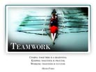 Teamwork - Light PPT PowerPoint Motivational Quote Slide