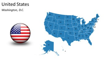 PowerPoint Country Map USA