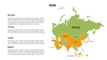 PowerPoint Asia Map