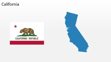 PowerPoint US State California Map