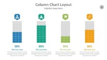 PowerPoint Infographic - Column Chart Layout