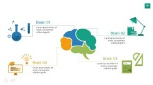 PowerPoint Infographic - Brain Layout