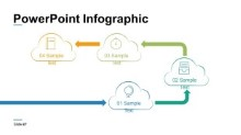 PowerPoint Infographic - Cloud Timeline