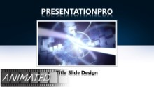 Animated Abstract Rays Cubes Widescreen PPT PowerPoint Animated Template Background