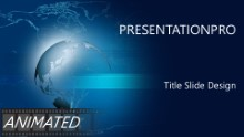 Animated Global World Map Widescreen PPT PowerPoint Animated Template Background