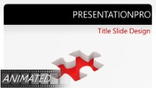 Animated Rotating Puzzle Solution Widescreen PPT PowerPoint Animated Template Background