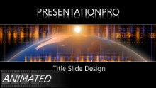 Animated Global Digital 121 Widescreen PPT PowerPoint Animated Template Background