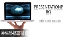 Animated Global Laptop Widescreen PPT PowerPoint Animated Template Background