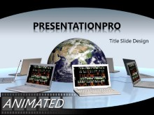Download animated global network Animated PowerPoint Template and other software plugins for Microsoft PowerPoint