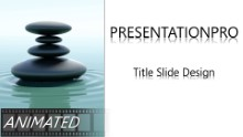 Animated Nature Waterstone Widescreen PPT PowerPoint Animated Template Background