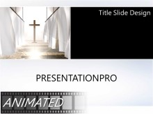 Animated Religious 281 Widescreen PPT PowerPoint Animated Template Background