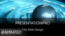 Animated Widescreen Global 0001 PPT PowerPoint Animated Template Background