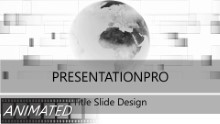Animated Widescreen Global 0002 PPT PowerPoint Animated Template Background