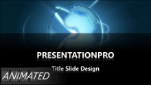 Animated Widescreen Global 0022 D PPT PowerPoint Animated Template Background