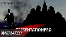 Animated Dark City 2 Widescreen PPT PowerPoint Animated Template Background