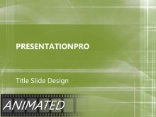 Animated Paths Green PPT PowerPoint Animated Template Background