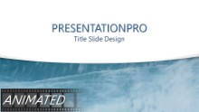 Stormy Water Curve Widescreen PPT PowerPoint Animated Template Background