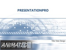 Animated Velocity Blue PPT PowerPoint Animated Template Background