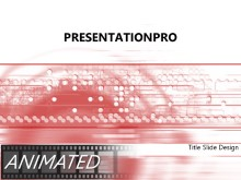 Animated Velocity Red PPT PowerPoint Animated Template Background