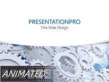 Working Gears Curve PPT PowerPoint Animated Template Background