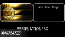 Film 0003 Widescreen PPT PowerPoint Animated Template Background