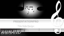 Music Notes 0190 Widescreen PPT PowerPoint Animated Template Background