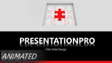Animated Pieces In Place B Widescreen PPT PowerPoint Animated Template Background