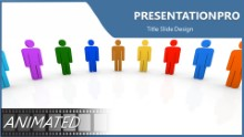 Animated Team Circle B Widescreen PPT PowerPoint Animated Template Background