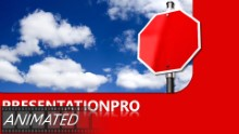 Blank Stop In Clouds Widescreen PPT PowerPoint Animated Template Background