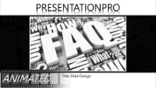 Faqs Cluster Widescreen PPT PowerPoint Animated Template Background