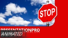 Stop In Clouds Widescreen PPT PowerPoint Animated Template Background