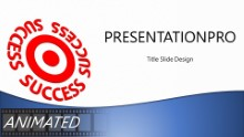 Success On Target Blue Widescreen PPT PowerPoint Animated Template Background